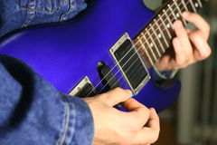Guitar play Royalty Free Stock Images