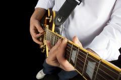 Guitar play royalty free stock photos