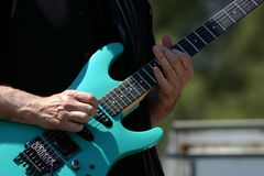 Guitar Player. Concert in the Park Stock Image