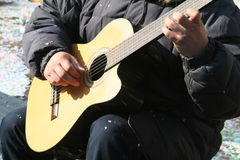 A guitar player Royalty Free Stock Images