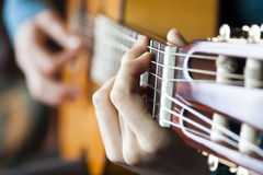 Guitar Player. A guitar player, playing guitar Stock Photography