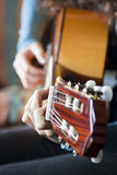 Guitar Player. A guitar player, playing guitar Royalty Free Stock Photos