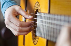 Guitar Player. A guitar player, playing guitar Royalty Free Stock Images