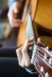 Guitar Player. A guitar player, playing guitar Royalty Free Stock Photo