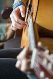 Guitar Player. A guitar player, playing guitar Stock Images