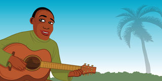 Guitar player African Royalty Free Stock Photos