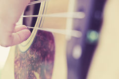 Guitar player background Stock Image