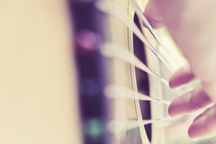 Guitar player background Royalty Free Stock Photography