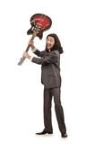 Guitar player in business suit Stock Photography