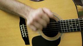 Guitar player stock video footage