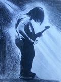 Guitar player  hand draw Stock Images