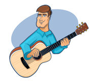 Guitar Player Icon Royalty Free Stock Photography