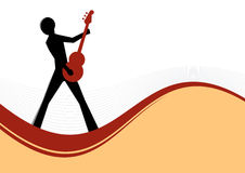 Guitar Player Illustration. Guitar player on curvy base illustration royalty free illustration