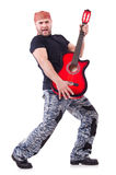 Guitar player Stock Photography