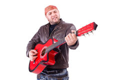 Guitar player isolated Stock Photo