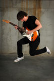 Guitar Player Jumping Stock Images