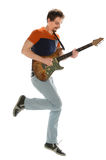 Guitar Player Jumping Royalty Free Stock Images