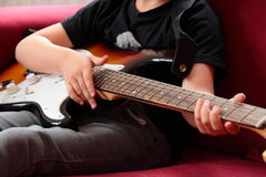 Guitar player. Stock Image