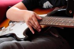 Guitar player. Royalty Free Stock Photos