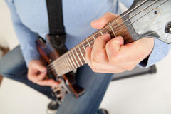 Guitar player playing Stock Image