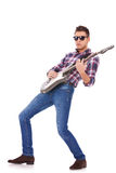 Guitar player playing rock and roll Royalty Free Stock Photos