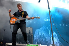 Guitar player of Royal Blood (British rock duo band formed in Worthing) concert at Dcode Royalty Free Stock Photos