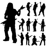 Guitar player set Royalty Free Stock Images