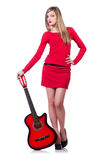 Guitar player woman Stock Image