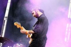 The guitar player of Yuck (band) performs at MBC Fest Stock Photos