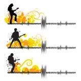 Guitar players stock illustration