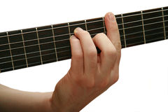 guitar playing 库存图片