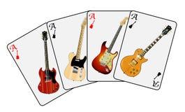 Guitar Playing Cards Stock Image