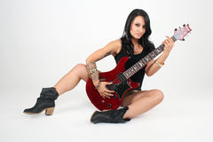 Guitar Playing Girl Royalty Free Stock Photos