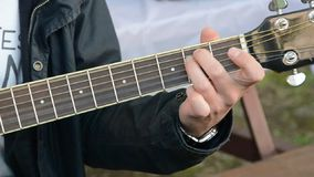 Guitar playing stock footage