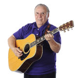 Guitar-Playing Senior Royalty Free Stock Images