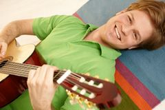 Guitar portrait Royalty Free Stock Images