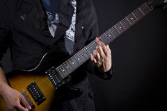 Guitar power chords Stock Image