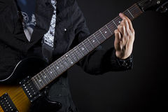 Guitar power chords Stock Images