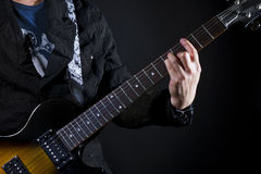 Guitar power chords Royalty Free Stock Photography