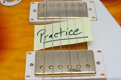 Guitar Practice Royalty Free Stock Photos