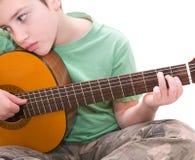 Guitar practice Stock Image