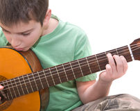 Guitar practice royalty free stock images