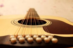 Guitar in perspective royalty free stock image