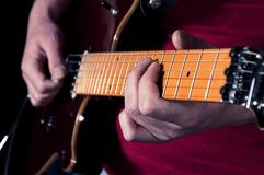 Guitar relaxation Stock Photo
