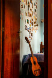 Guitar in a room Royalty Free Stock Photo