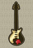 Guitar with rose Stock Images