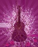 Guitar and roses. Vector illustration Stock Photography