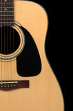 Guitar's detail with clipping path. On a black background Stock Photos