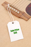 Guitar Sale Stock Photo