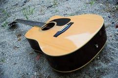 Guitar on The Sand Stock Photos